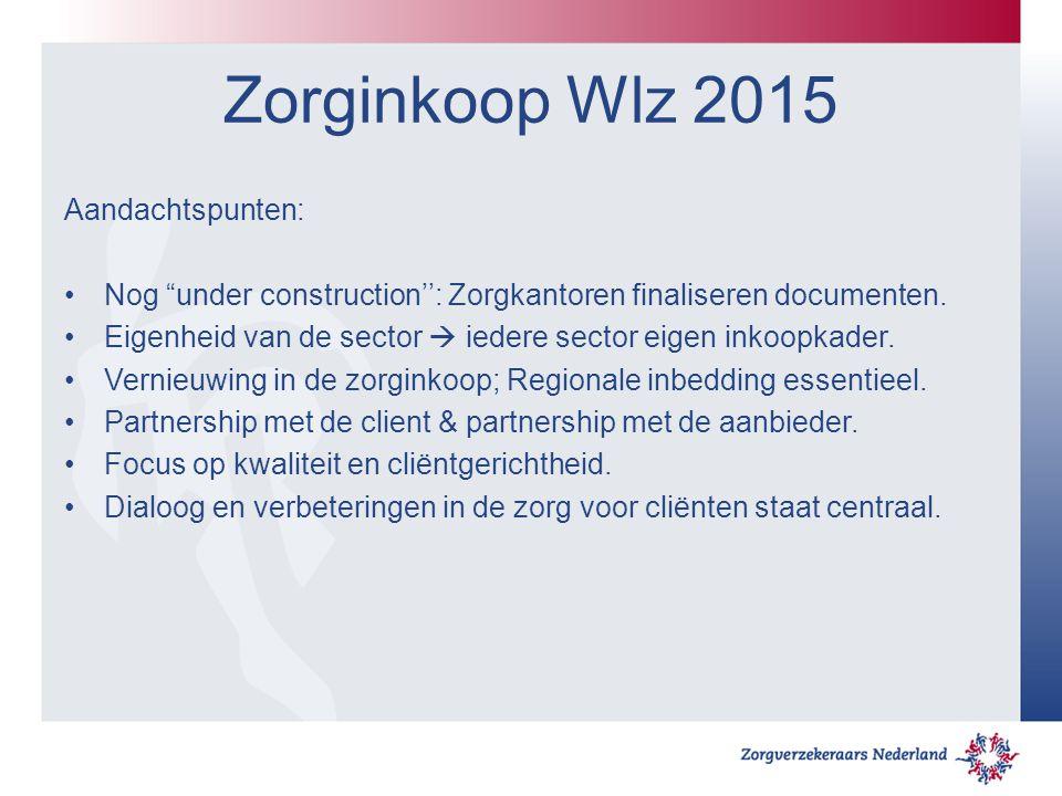 Zorginkoop Wlz 2015 Aandachtspunten: