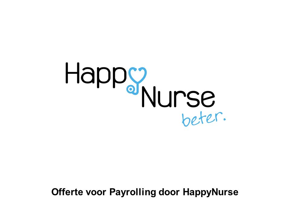 Offerte voor Payrolling door HappyNurse