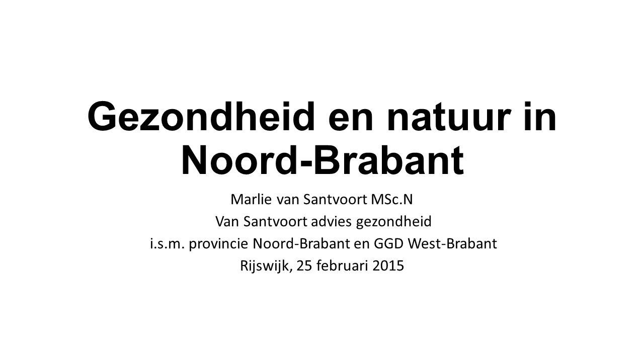Gezondheid en natuur in Noord-Brabant