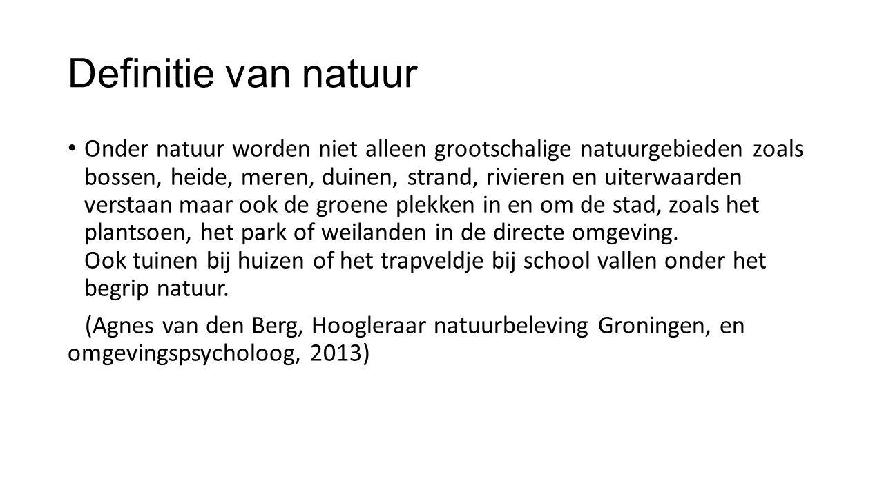 Definitie van natuur
