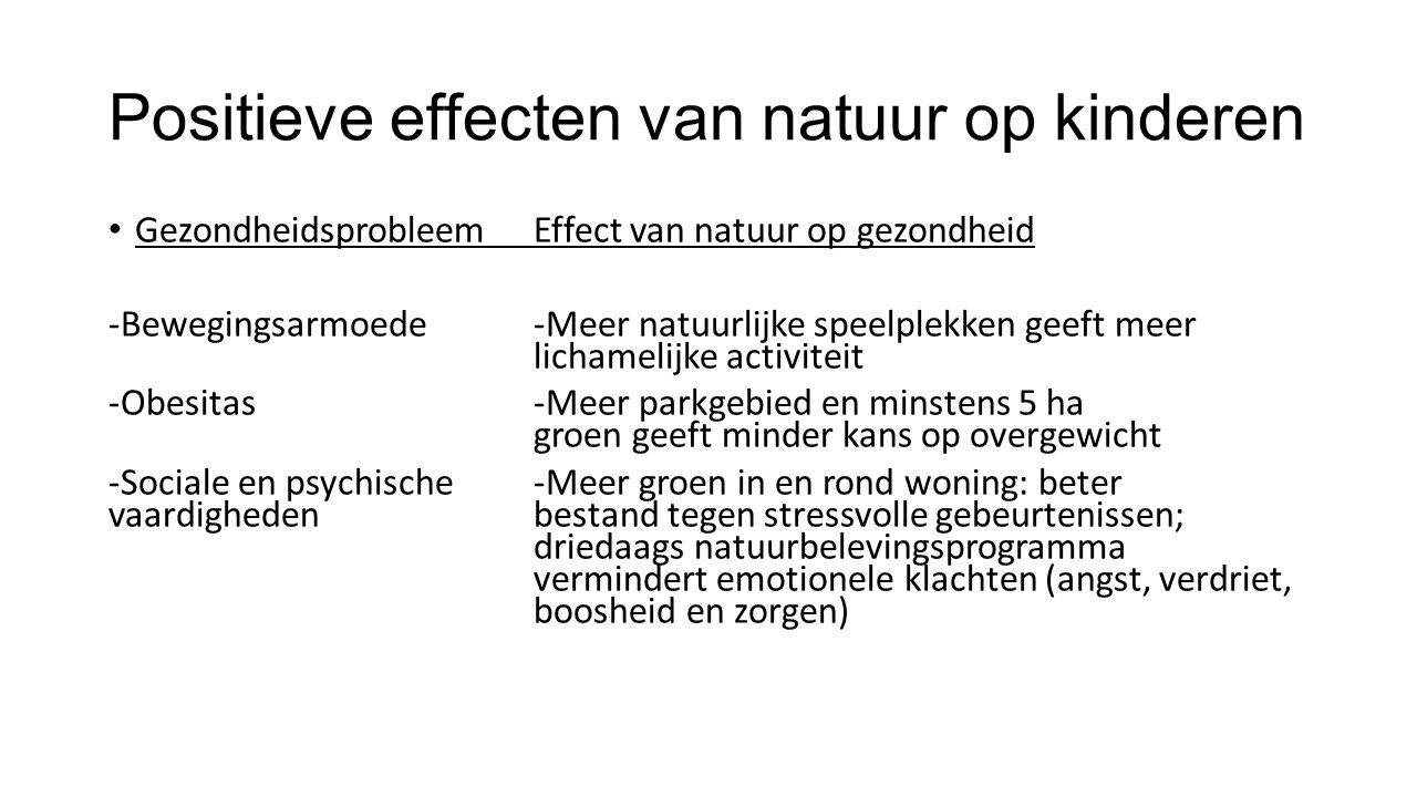 Positieve effecten van natuur op kinderen