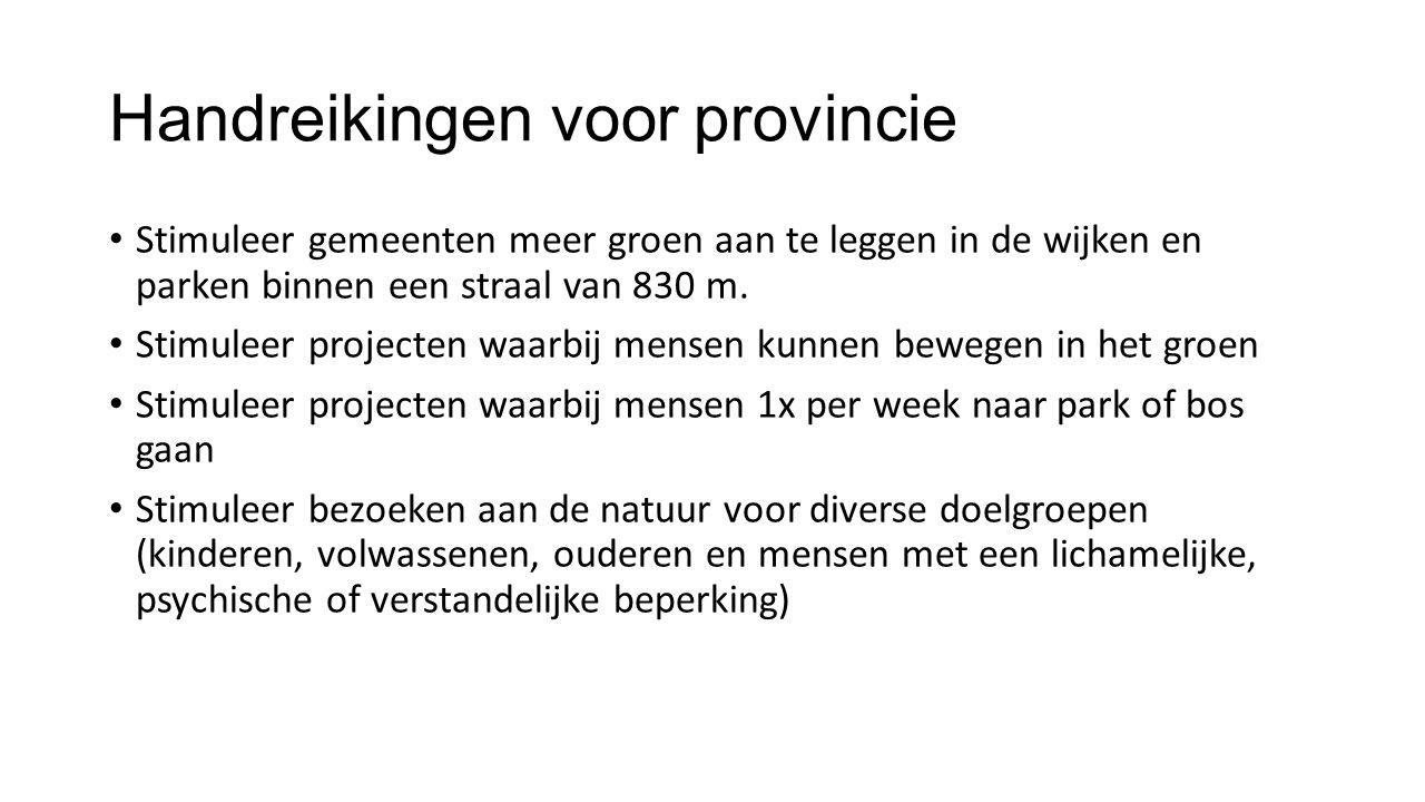 Handreikingen voor provincie
