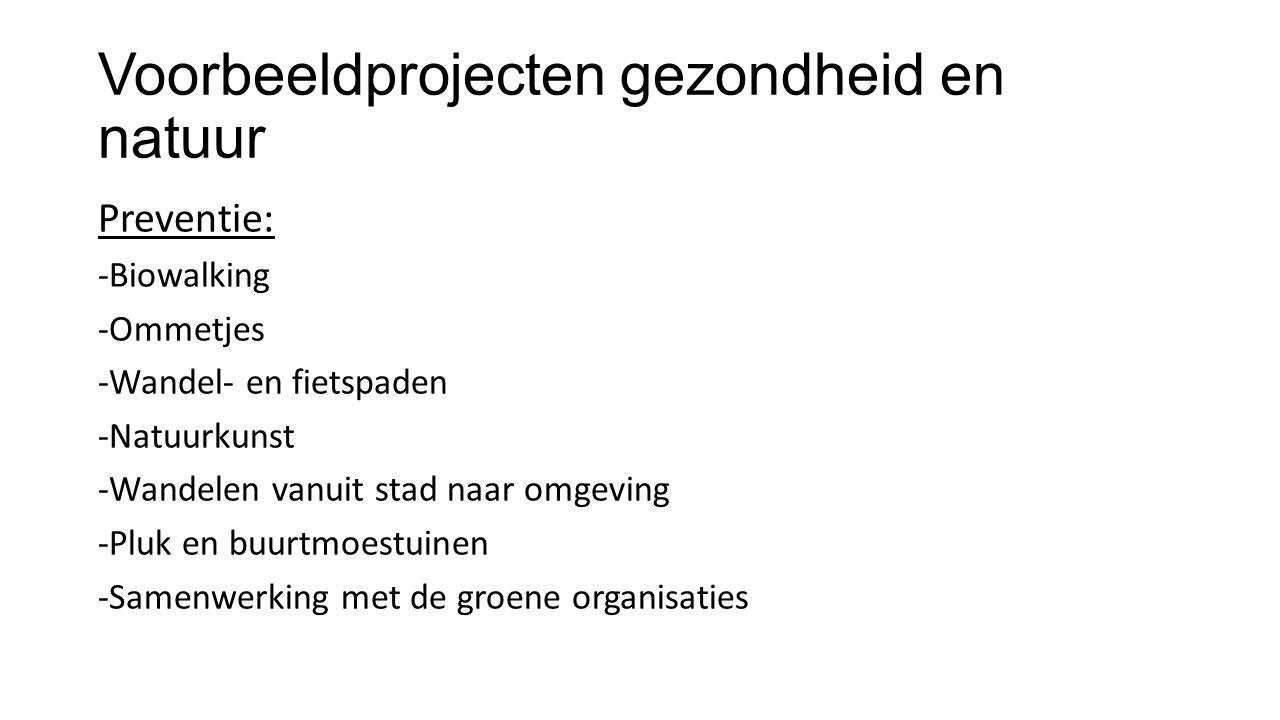 Voorbeeldprojecten gezondheid en natuur