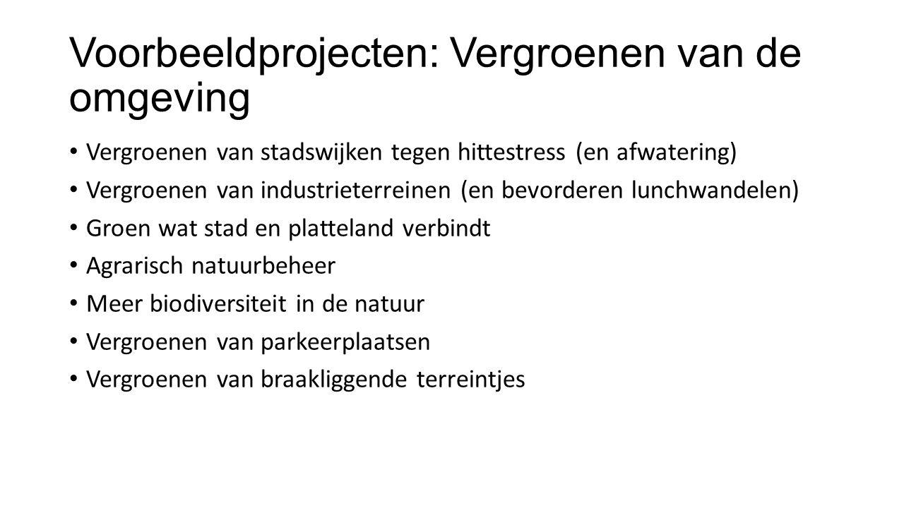 Voorbeeldprojecten: Vergroenen van de omgeving