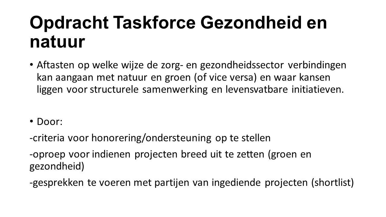 Opdracht Taskforce Gezondheid en natuur