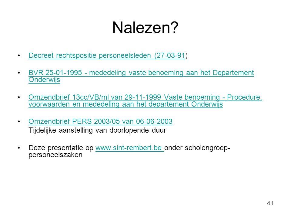 Nalezen Decreet rechtspositie personeelsleden (27-03-91)