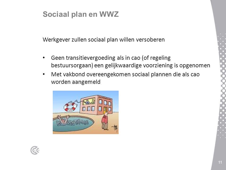 Sociaal plan en WWZ Werkgever zullen sociaal plan willen versoberen