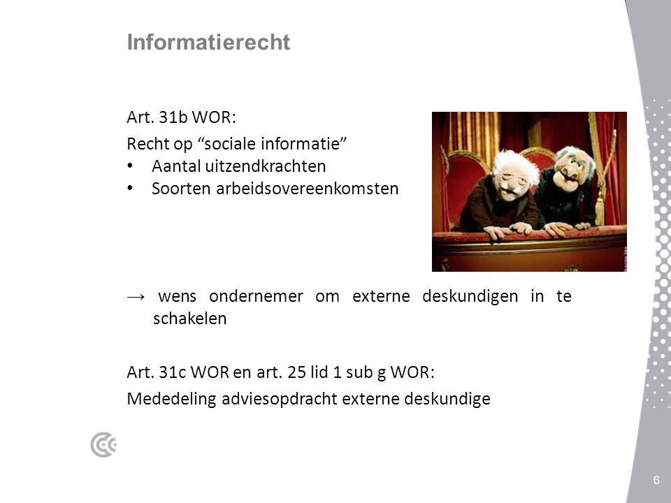 Informatierecht Art. 31b WOR: Recht op sociale informatie