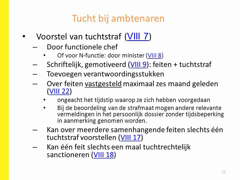 Tucht bij ambtenaren Voorstel van tuchtstraf (VIII 7)