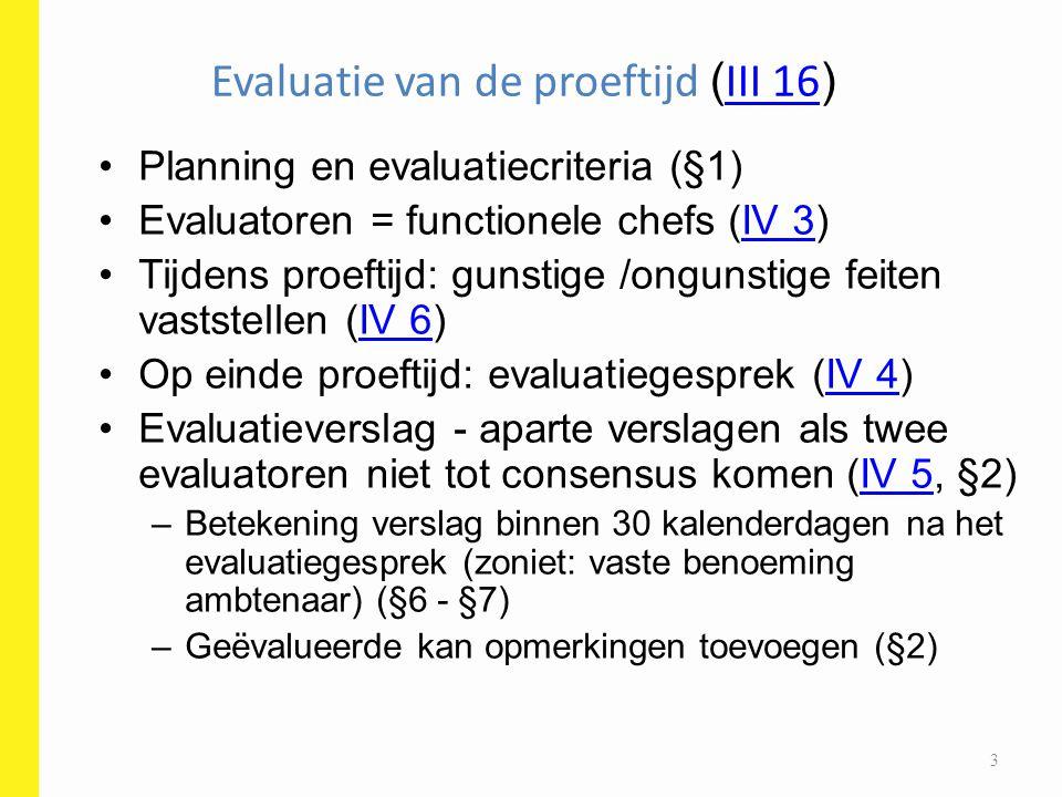 Evaluatie van de proeftijd (III 16)