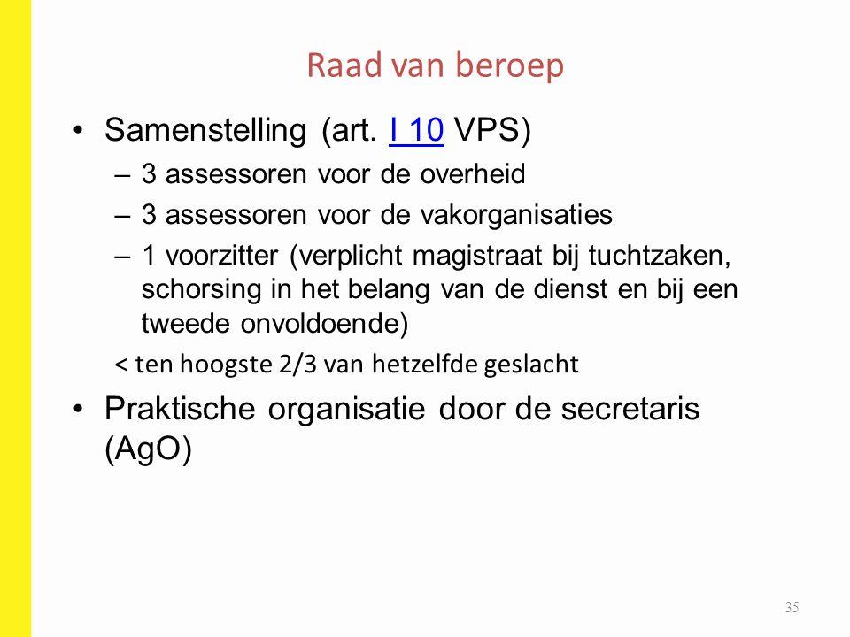 Raad van beroep Samenstelling (art. I 10 VPS)