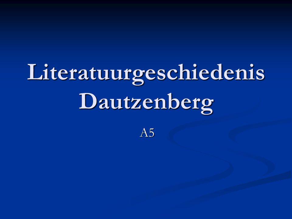 Literatuurgeschiedenis Dautzenberg