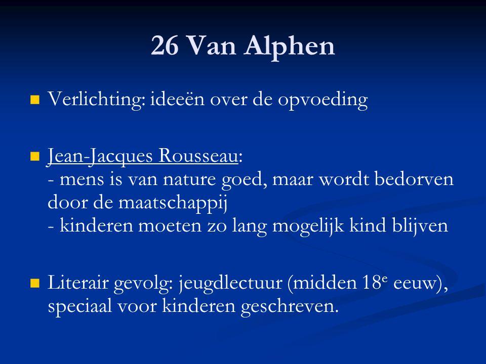 26 Van Alphen Verlichting: ideeën over de opvoeding