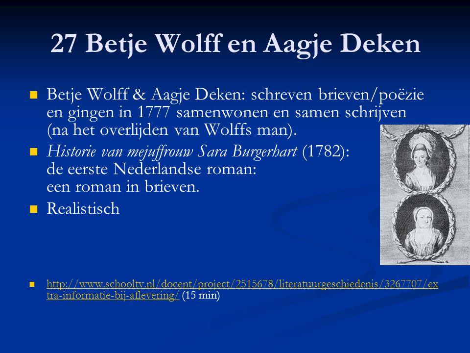 27 Betje Wolff en Aagje Deken