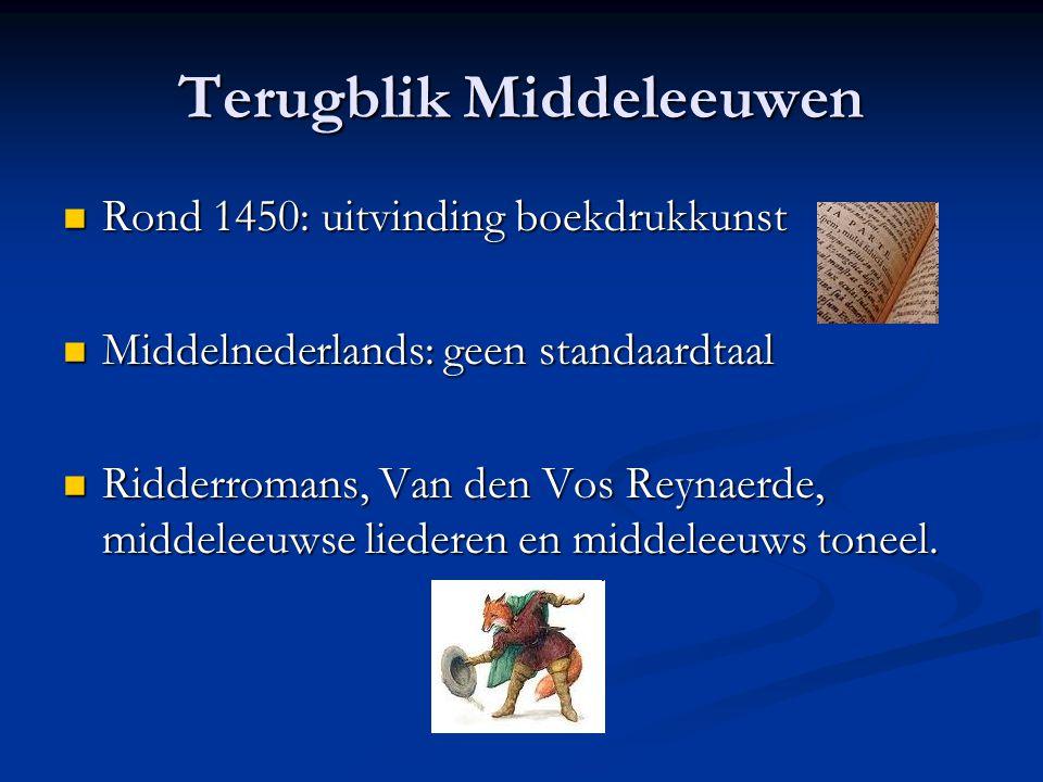 Terugblik Middeleeuwen