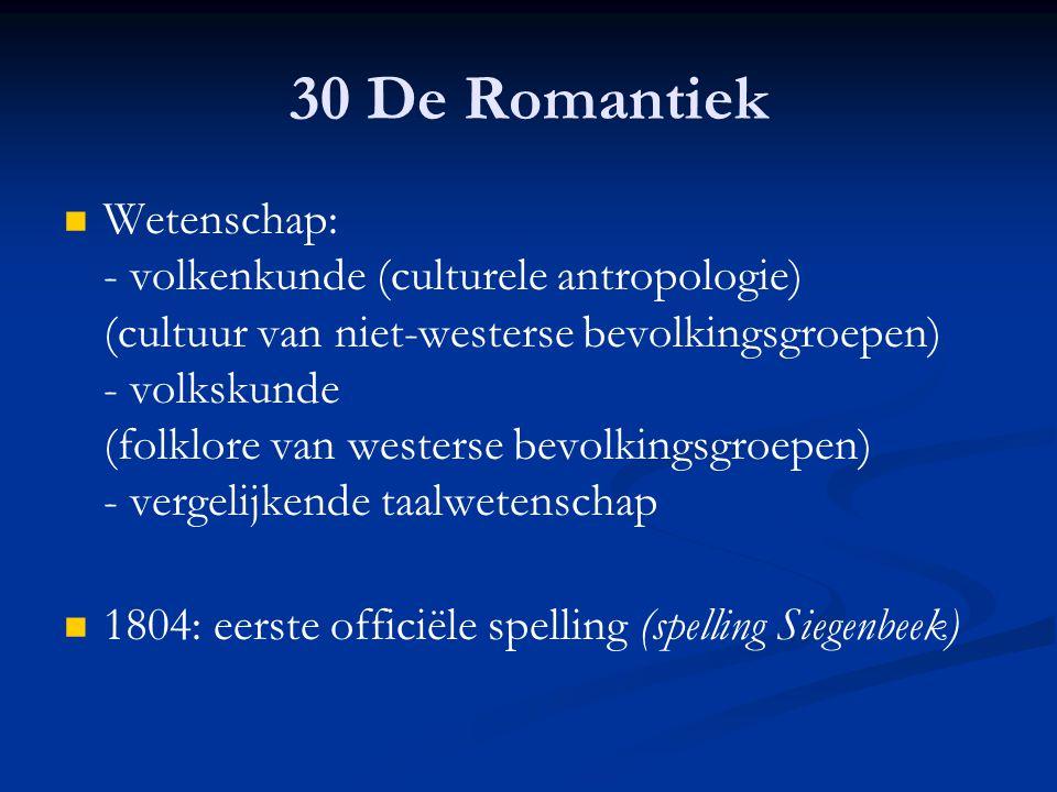 30 De Romantiek