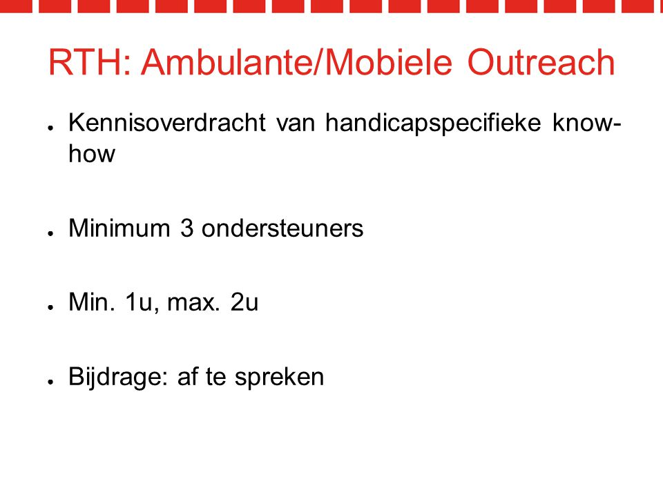 RTH: Ambulante/Mobiele Outreach