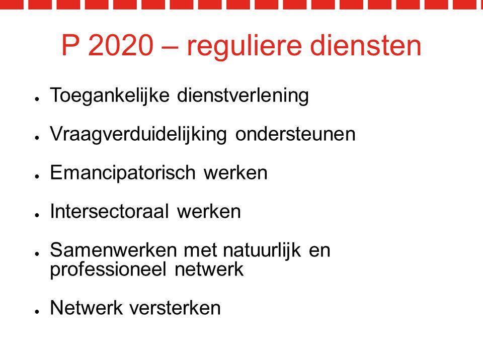 P 2020 – reguliere diensten Toegankelijke dienstverlening