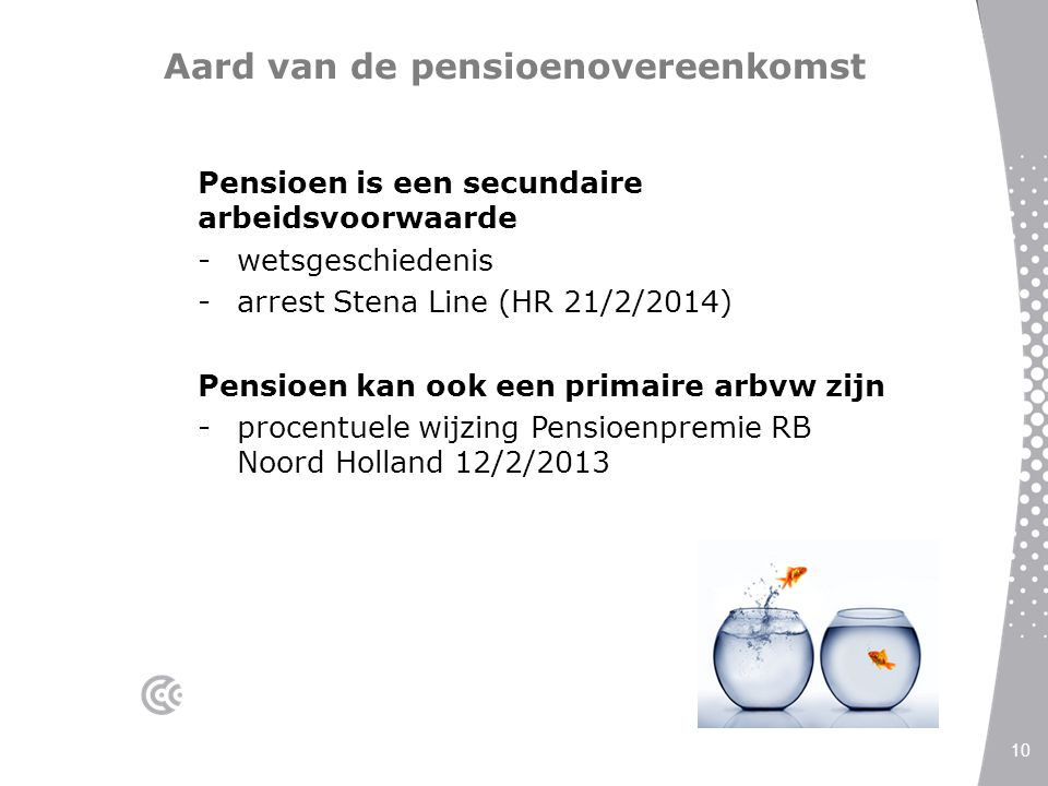 Aard van de pensioenovereenkomst