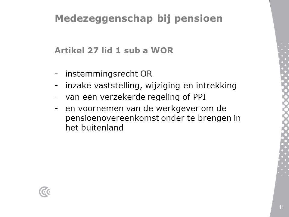 Medezeggenschap bij pensioen