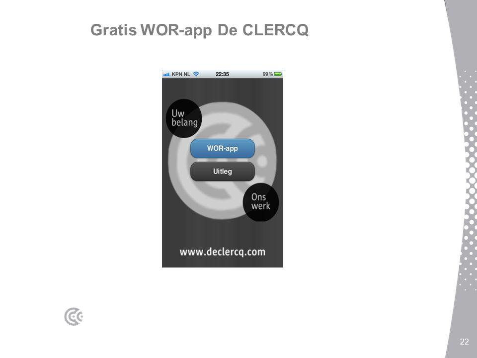 Gratis WOR-app De CLERCQ