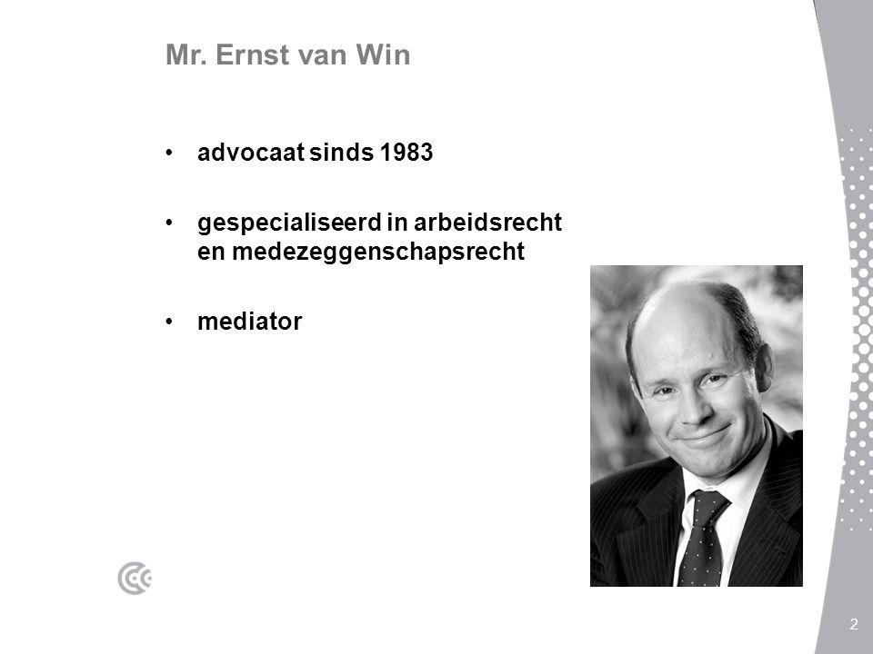 Mr. Ernst van Win advocaat sinds 1983
