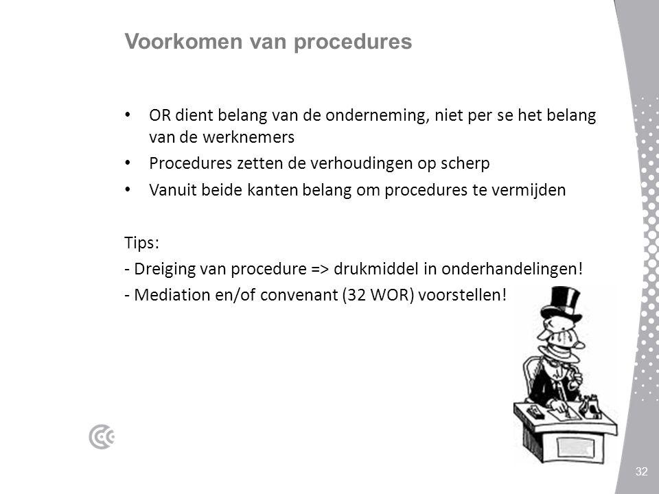Voorkomen van procedures