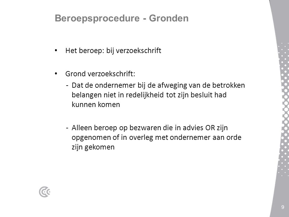 Beroepsprocedure - Gronden