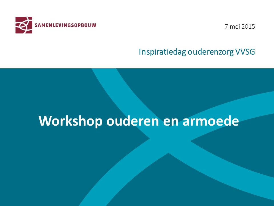 Workshop ouderen en armoede