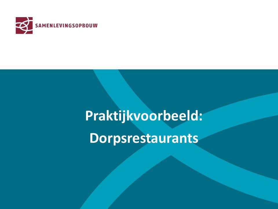 Praktijkvoorbeeld: Dorpsrestaurants