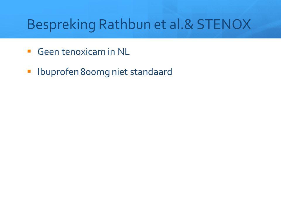 Bespreking Rathbun et al.& STENOX