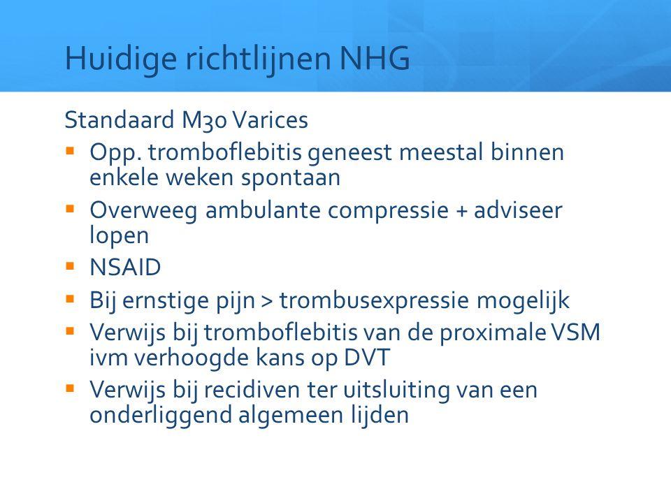 Huidige richtlijnen NHG