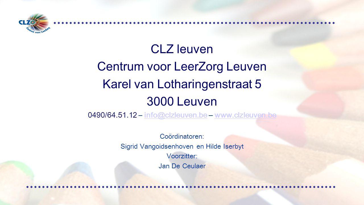 Centrum voor LeerZorg Leuven Karel van Lotharingenstraat 5 3000 Leuven