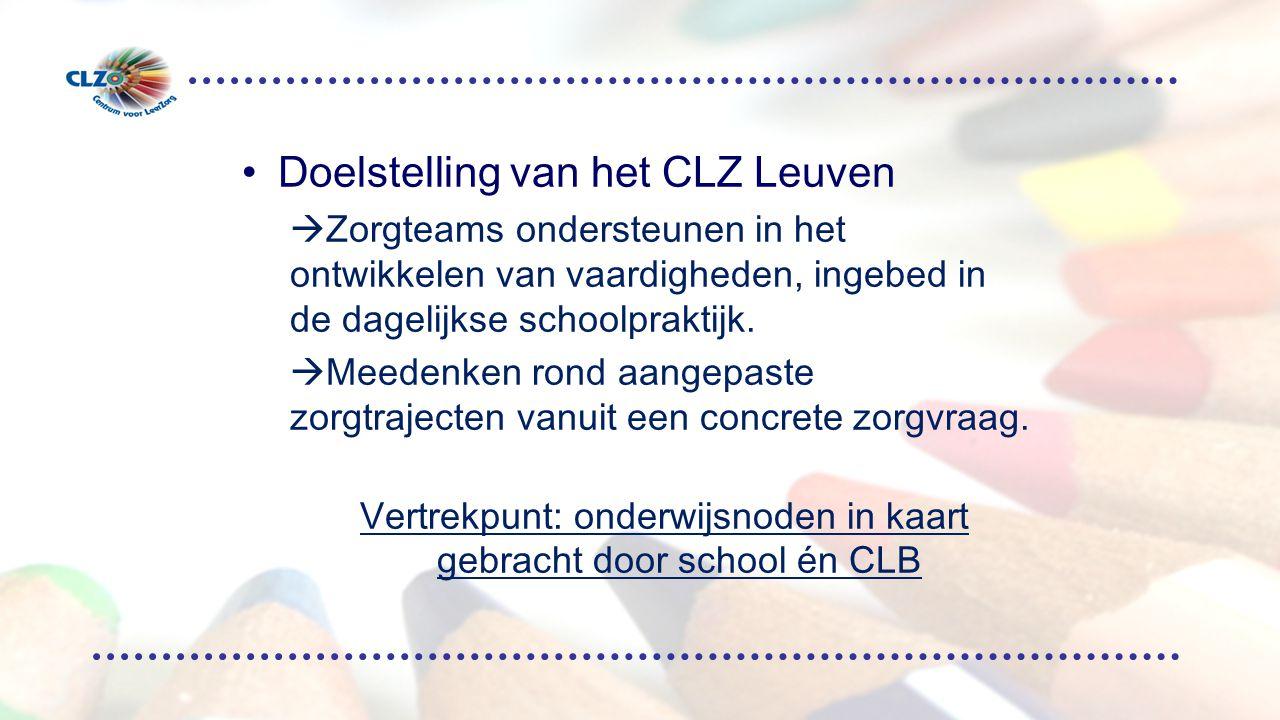 Vertrekpunt: onderwijsnoden in kaart gebracht door school én CLB