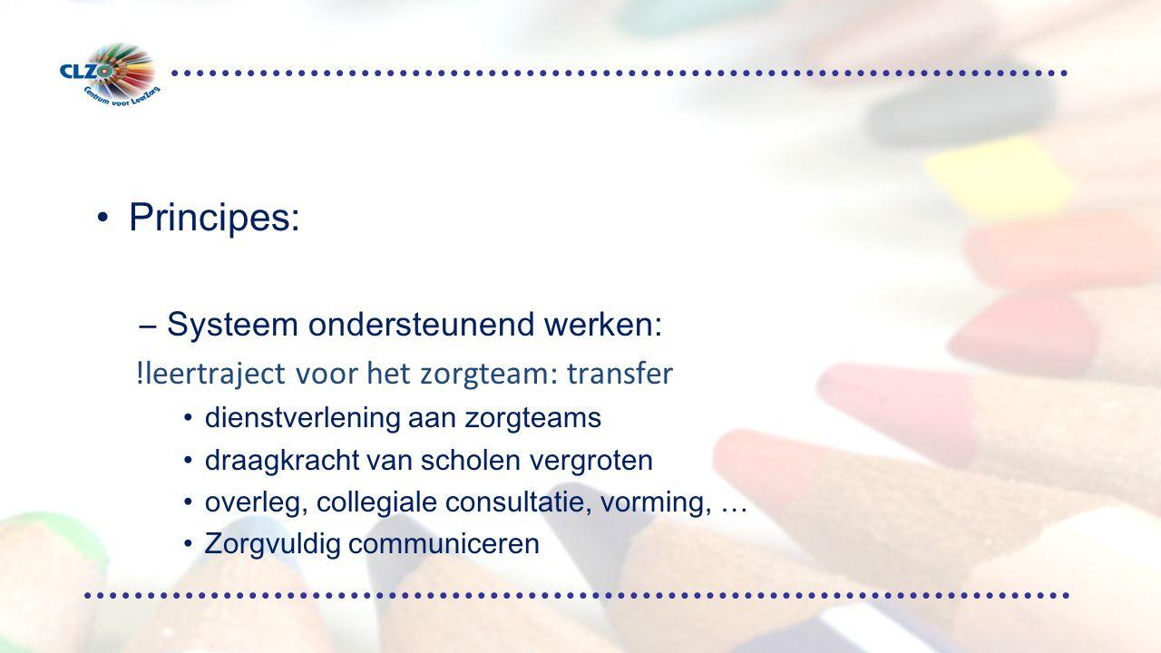 Principes: Systeem ondersteunend werken: