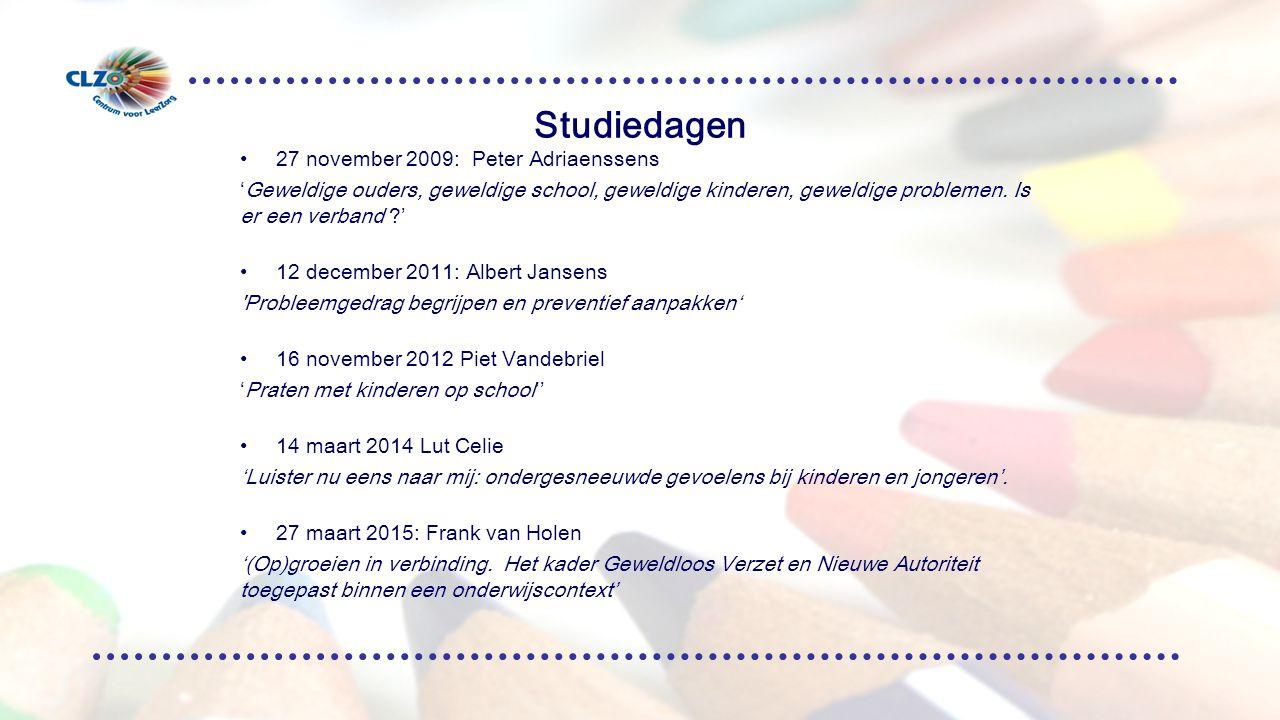 Studiedagen 27 november 2009: Peter Adriaenssens