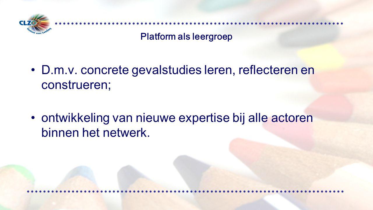 Platform als leergroep