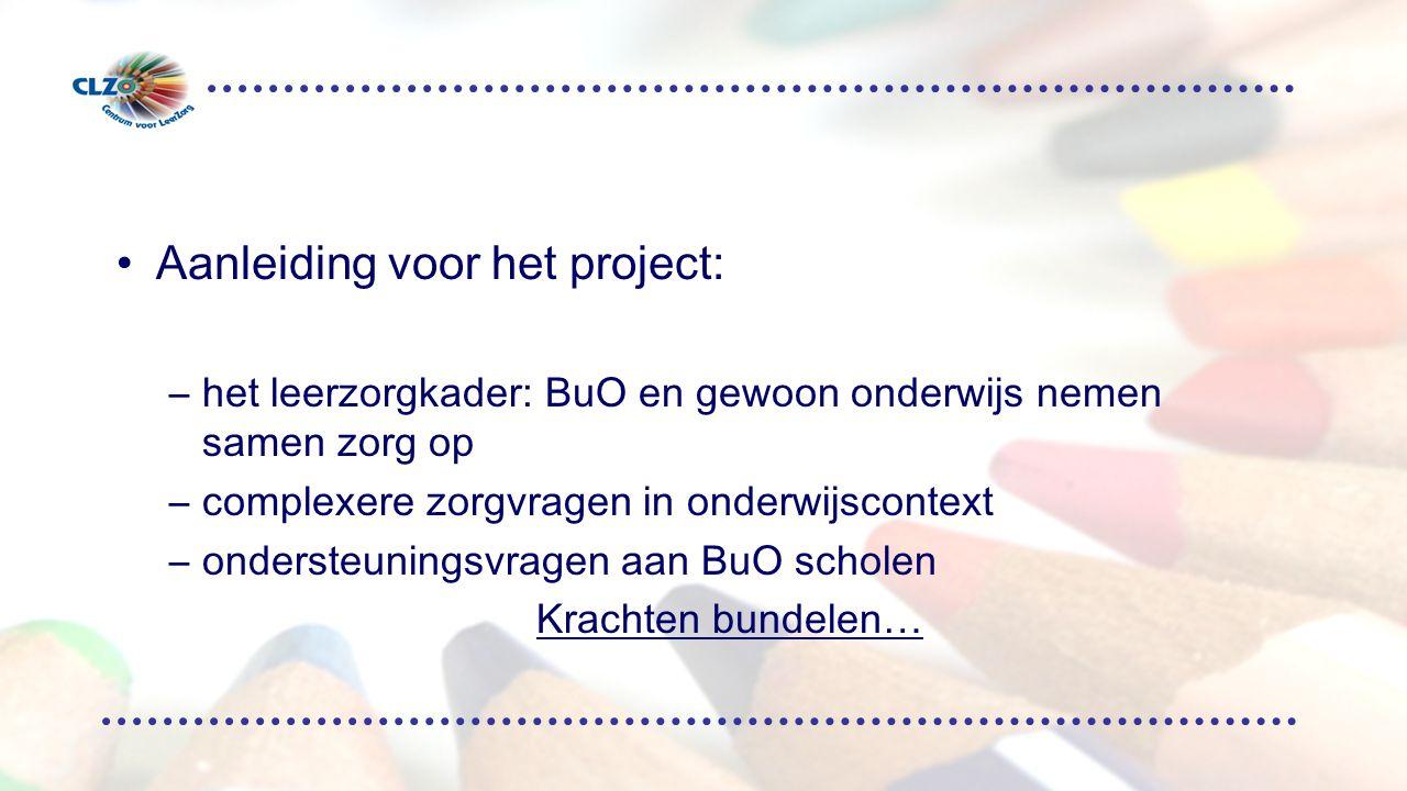 Aanleiding voor het project: