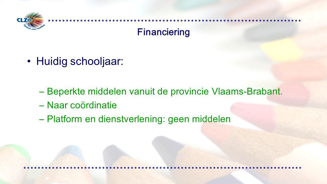 Huidig schooljaar: Financiering