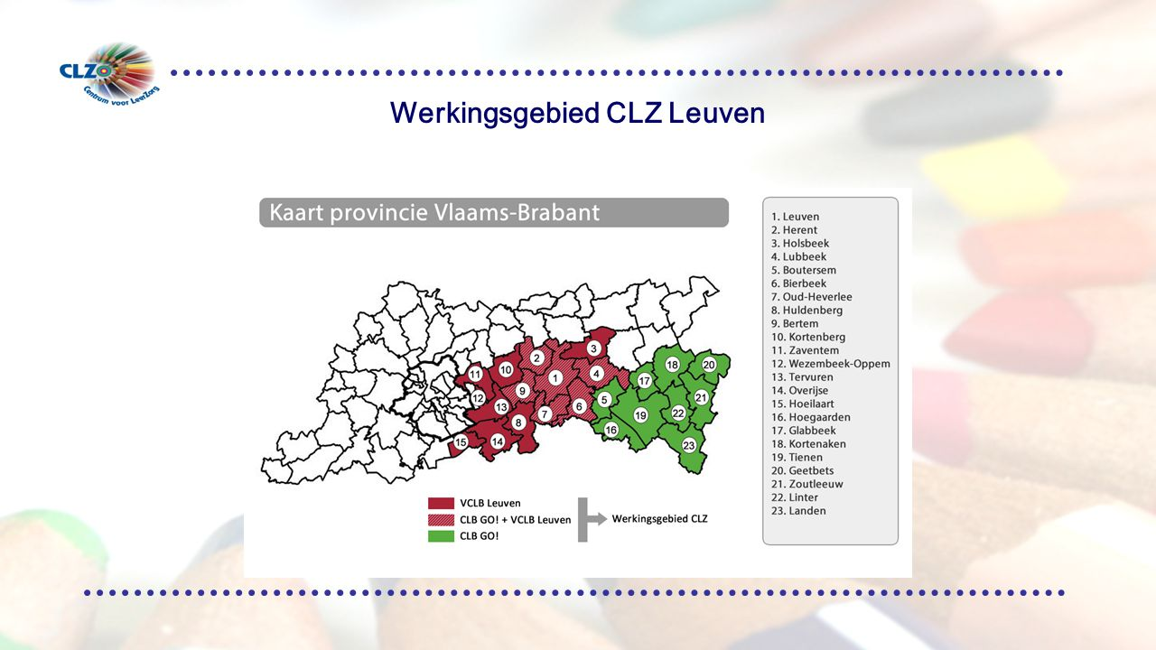 Werkingsgebied CLZ Leuven