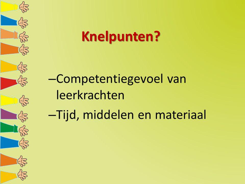 Knelpunten Competentiegevoel van leerkrachten
