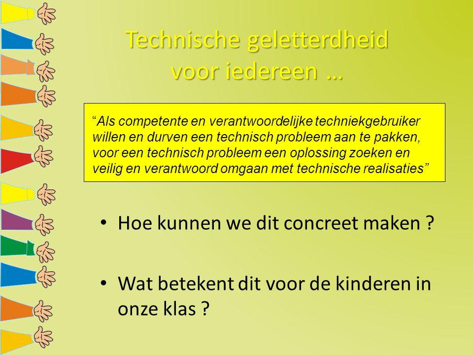 Technische geletterdheid voor iedereen …