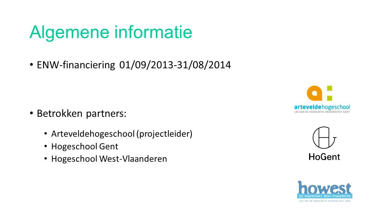 Algemene informatie ENW-financiering 01/09/2013-31/08/2014