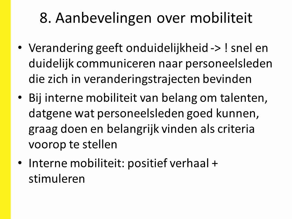 8. Aanbevelingen over mobiliteit