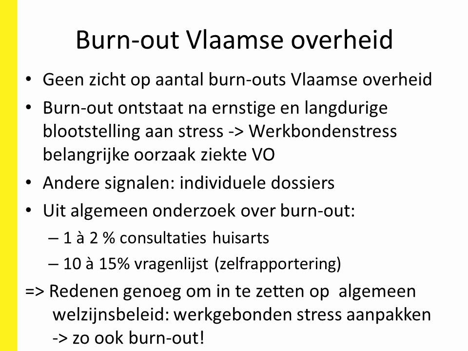 Burn-out Vlaamse overheid