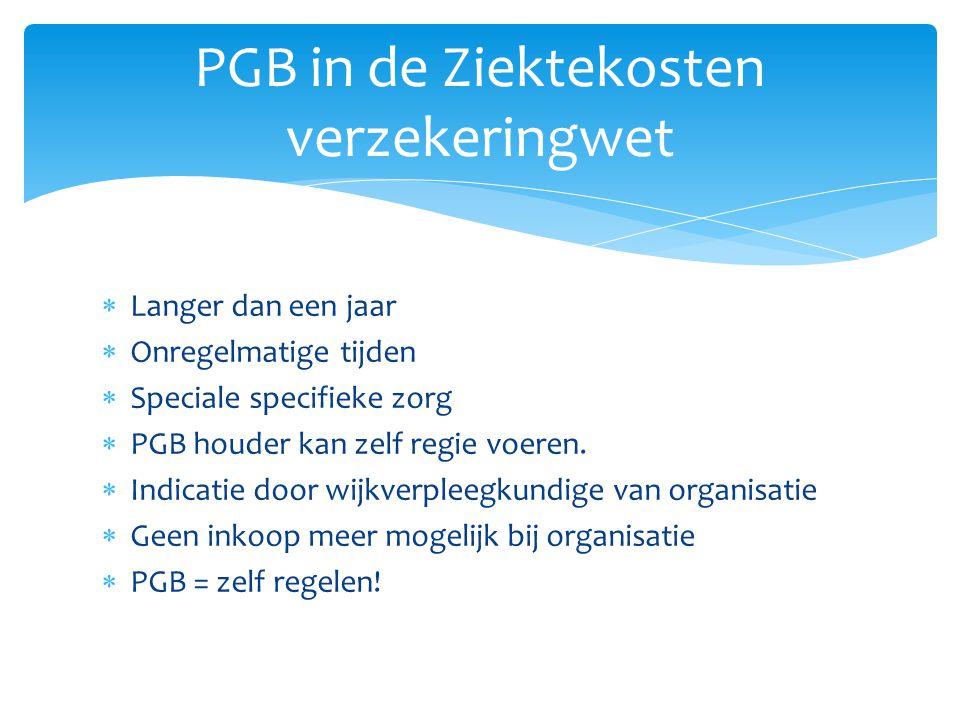 PGB in de Ziektekosten verzekeringwet
