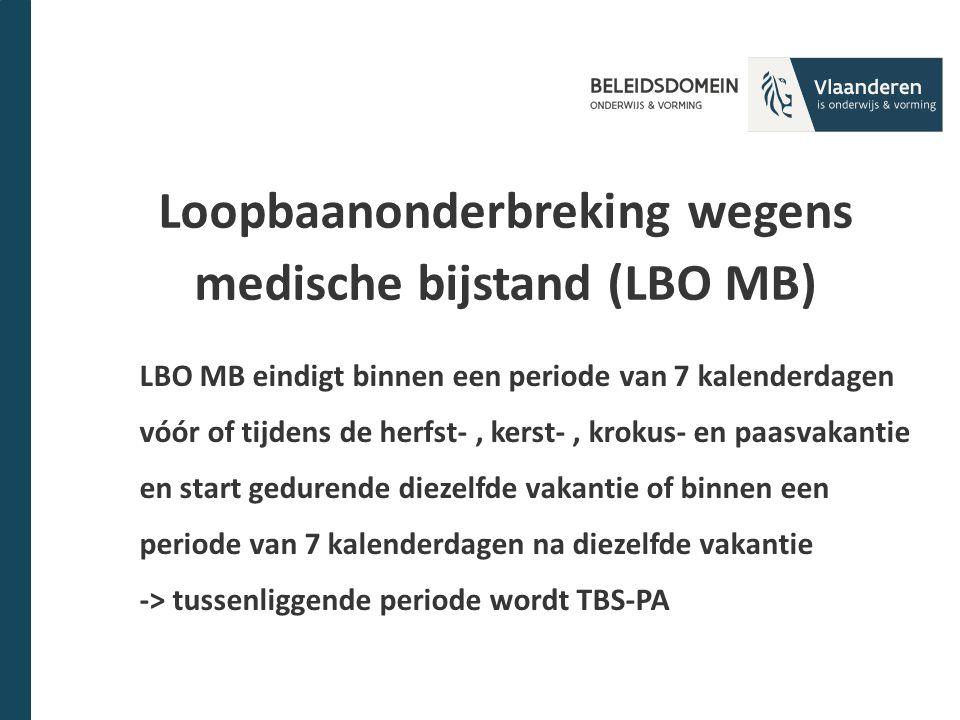 Loopbaanonderbreking wegens medische bijstand (LBO MB)