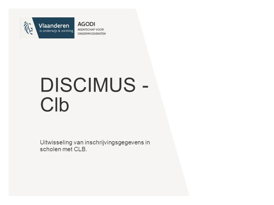 Uitwisseling van inschrijvingsgegevens in scholen met CLB.