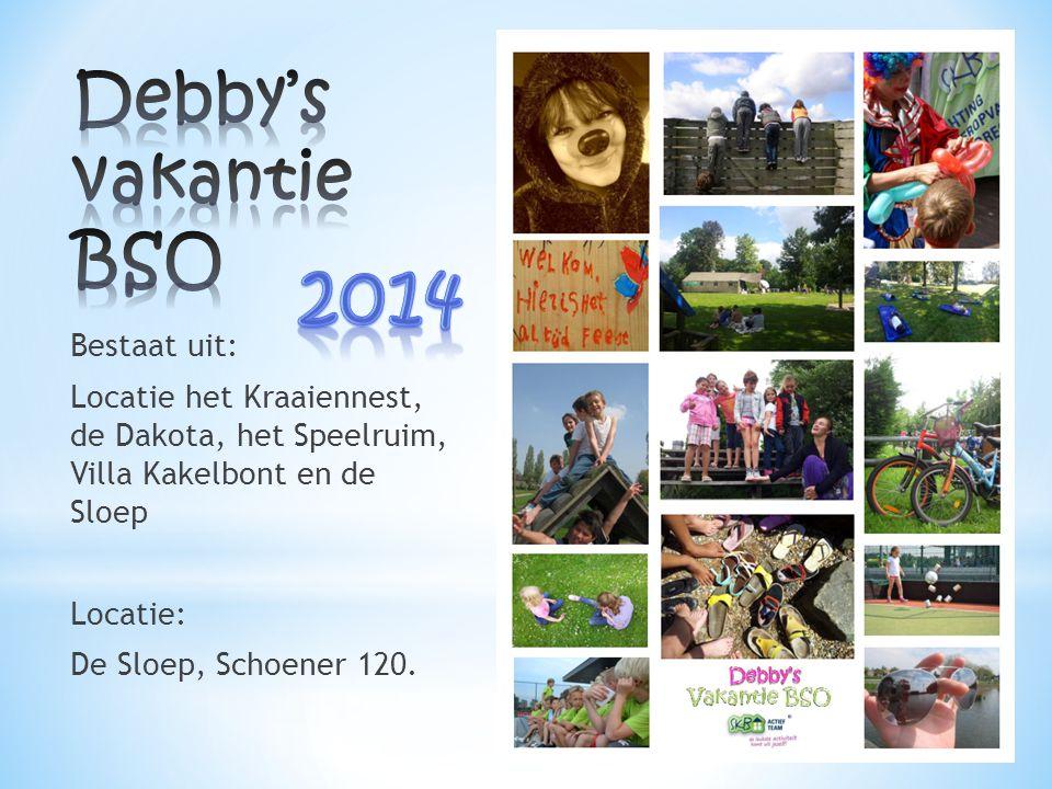 Debby's vakantie BSO 2014. 2014.
