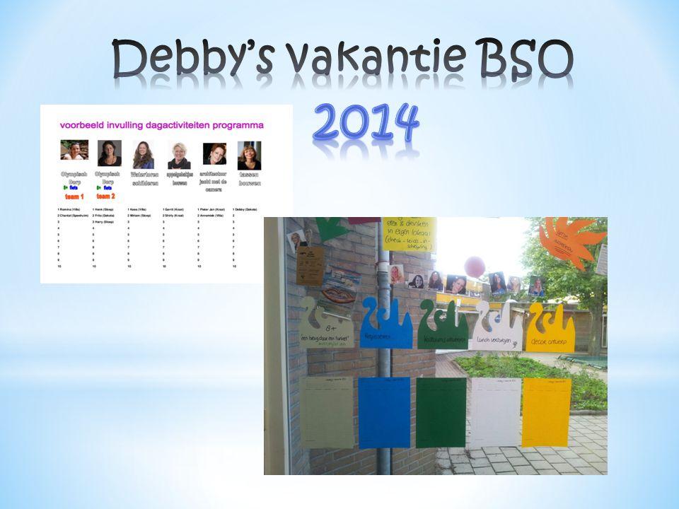 Debby's vakantie BSO 2014